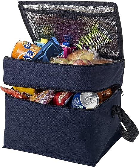 Bolsa isot/érmica para el almuerzo picnic y trabajo camping recipiente t/érmico plegable e impermeable para mujer apto para viaje refrigerante y port/átil