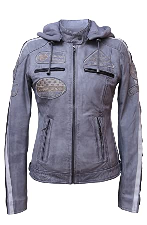 Urban Leather 58 Chaqueta de Damas, Gris
