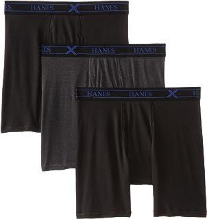 Hanes Men's 3 Pack Ultimate X-Temp Short Leg Boxer Trunks Hanes Men's Underwear UTB2B3