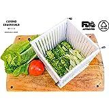 Cosmo Essentials Salad Cutter Bowl, Fruit & Vegetable Dicer - FDA Approved Salad Slicer Set, Collapsible Bowl & Strainer, Safe Chopper Bowl, Fast & Easy Fruit / Vegetable Slicer ( Large Family Size )