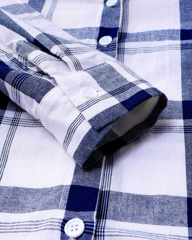 YOINS T-shirt dam topp dam sommar rutig blus chiffong elegant långärmad toppar v-ringad lös skjortblus t-shirt toppar elegant skjorta g-blå