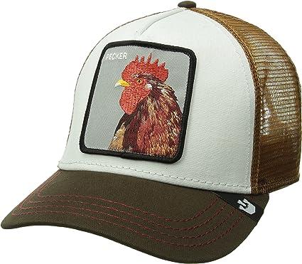 Gorra trucker amarilla y blanca gallo Peck Peck de Goorin Bros ...