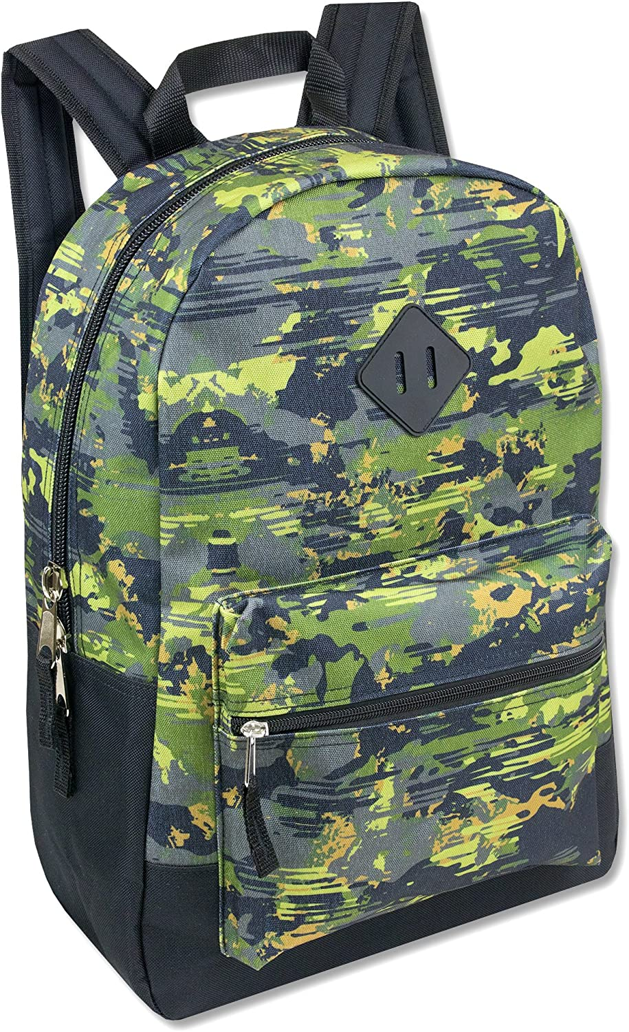 Travel Camping Hiking Trailmaker Boys Printed 17 Inch Backpack with Pencil Pouch for School Camo