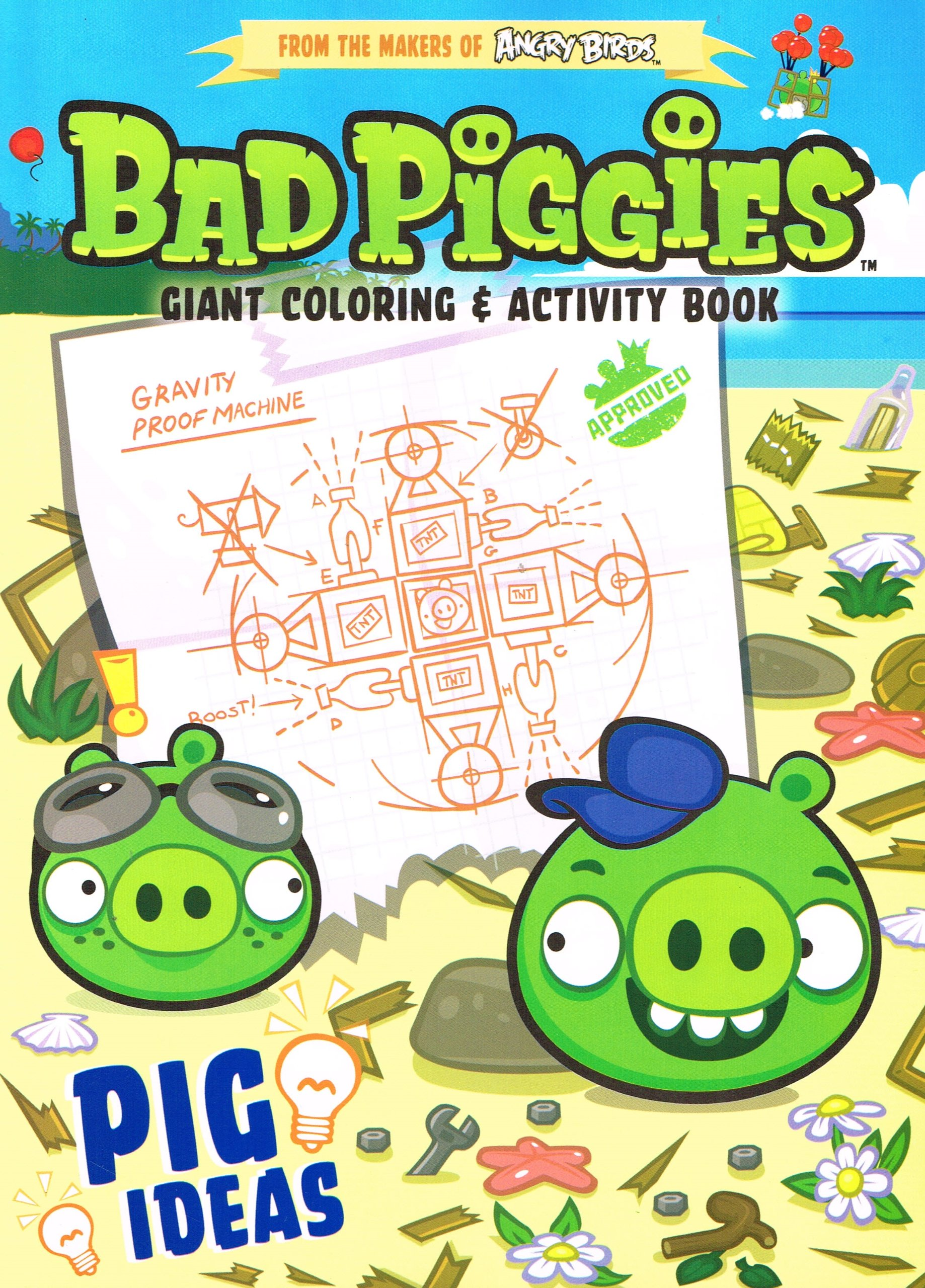 - Angry Birds Bad Piggies Giant Coloring & Activity Book ~ Pig Ideas