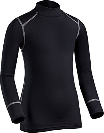 Black ColdPruf Youth Quest Performance Base Layer Long Sleeve Mock Neck Top X-Small 62MXSBK