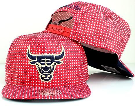 Amazon.com   Mitchell   Ness NBA All Over Stars Snapback Hat - Red ... bc13e01f35e