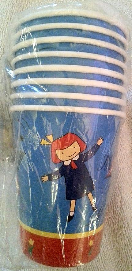 Amazon.com: Madeline – Vasos para fiestas decoración muñeca ...