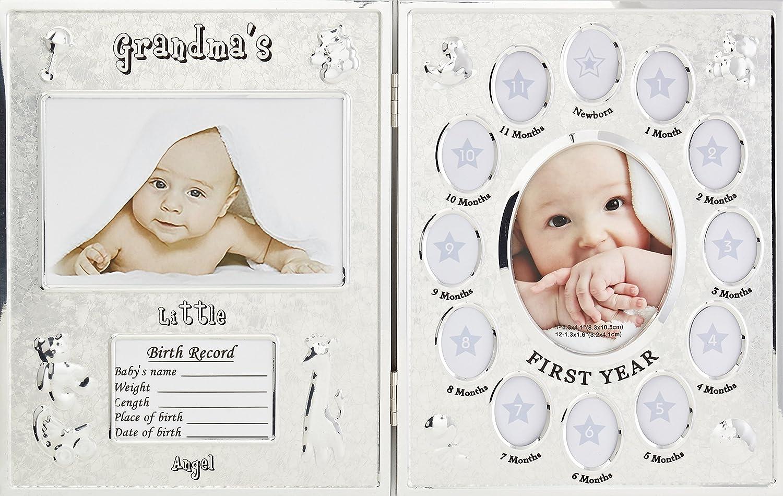 Baby Fotorahmen Bilderrahmen Mein erstes Jahr Babygalerie mit Gipsabdruck
