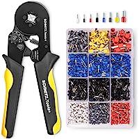 Krimptang met Adereindhulzen Set [1.800 Stuks] SCHMITZ.Tools® - Krimptang Vierkant - Zelfinstellend - Adereindhulzen…