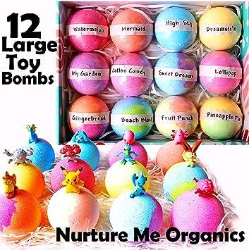 Amazon.com: Set de regalo de bombas de baño para niños. 12 ...