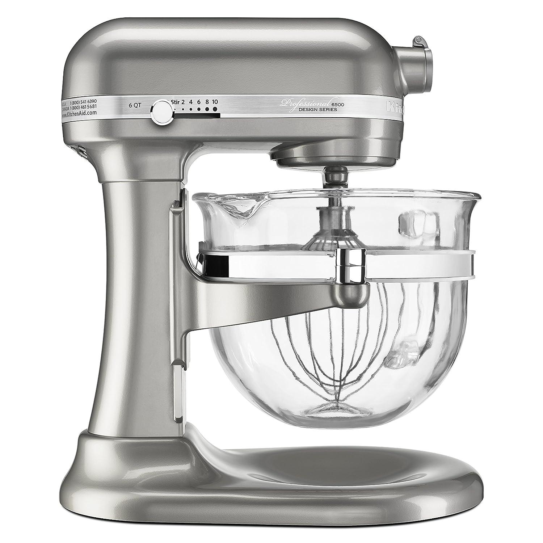 Wondrous Kitchenaid Professional 6500 Stand Mixer 6 Qt Glass Bowl Silver Home Interior And Landscaping Ponolsignezvosmurscom
