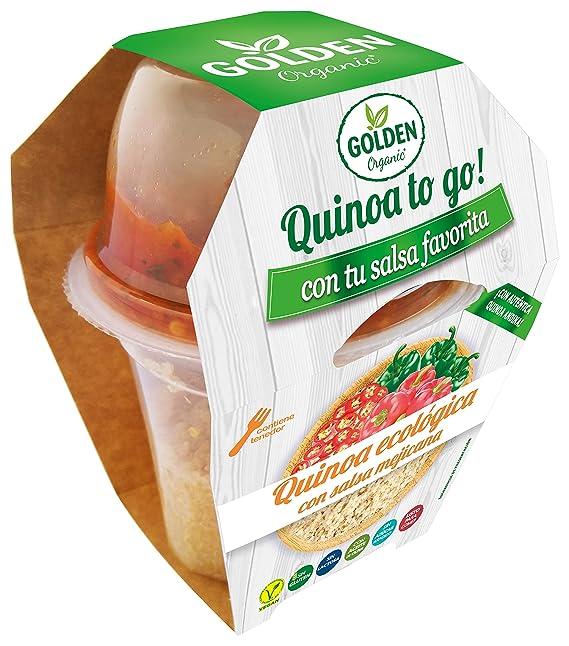 Golden Organic Quinoa Cocida con Salsa Mexicana Ecológico - Paquete de 15 x 205 gr -