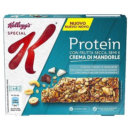 Kelloggs Special K Protein Cacao, Cocco & Anacardi - Confezione di 4 barrette ...