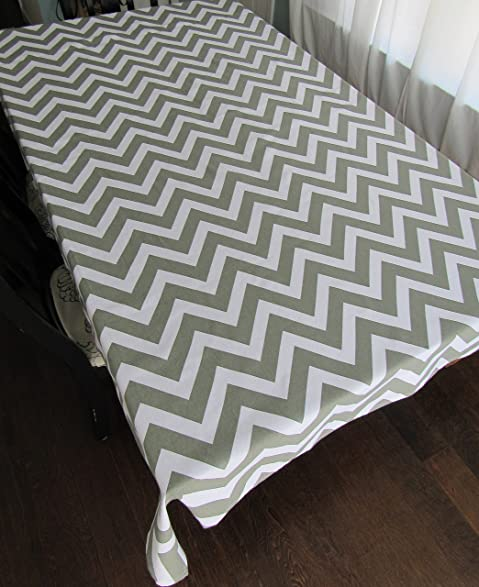 Incroyable Gray Chevron Cotton Square Tablecloth   Crabtree Collection (60 X 60 Square)