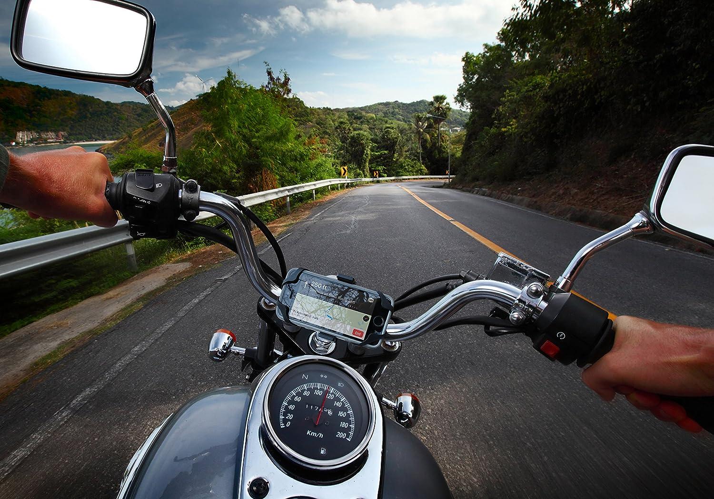Roam Universal Premium Bike Phone Halterung f/ür Motorrad//Bike Lenker Galaxy S7 h/ält Handys bis 8,9/cm breit, passt f/ür iPhone 6S//6S Plus iPhone 7//7/Plus verstellbar
