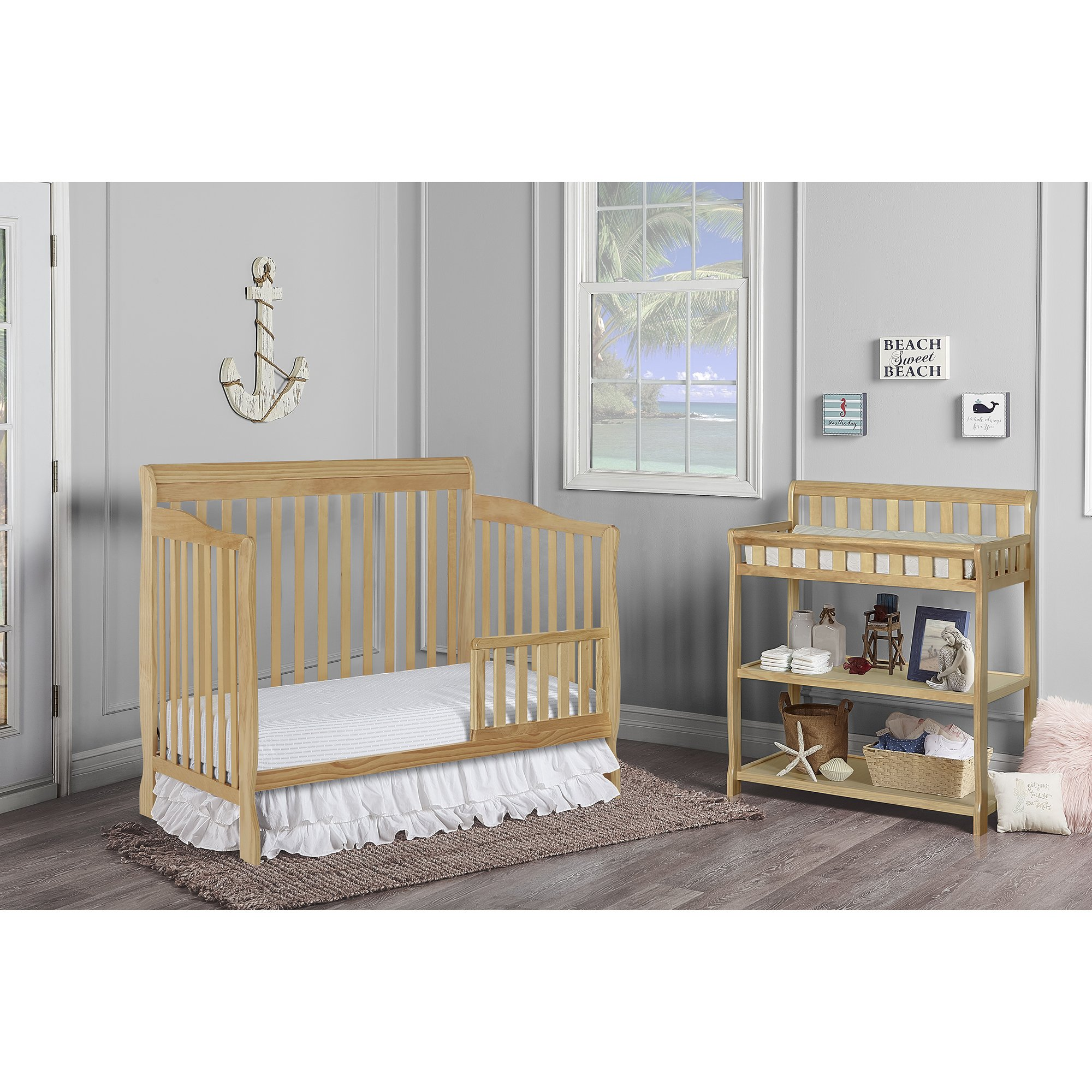 Dream On Me Ashton 5 in 1 Convertible Crib, Natural by Dream On Me (Image #4)