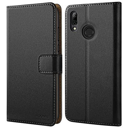 online store 8cc87 dad22 HOOMIL Case Compatible with Huawei P Smart 2019, Premium Leather Flip  Wallet Phone Case for Huawei P Smart 2019 Cover (Black)
