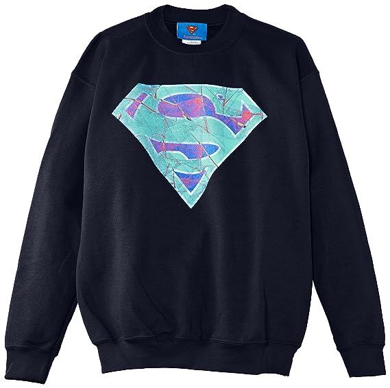 Dc Comics Superman Glass Logo, Sudadera, Niños, Negro (Black), 12-13 años: Amazon.es: Ropa y accesorios