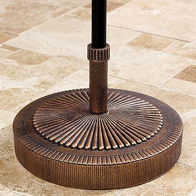BrylaneHome Starburst Weather-Resistant Umbrella Stand, Bronze : Garden & Outdoor