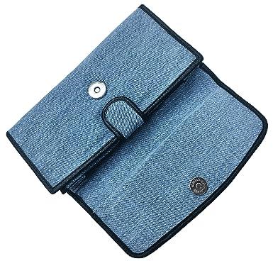 Amazon.com: Bijoux de Ja las mujeres azul denim dinero Flap ...