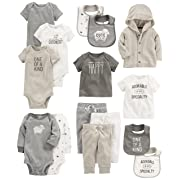 Carter's Baby 15-Piece Basic Essentials Set, Sheep 6 Months