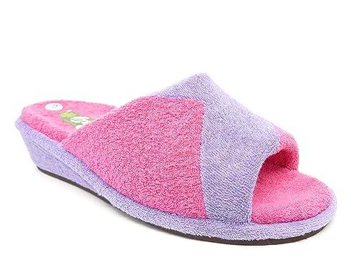 Zapatilla mujer estar por casa marca VANITY en rizo toalla color Violeta 525 - 31: Amazon.es: Zapatos y complementos
