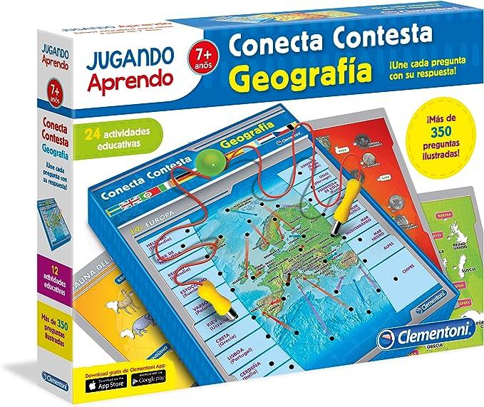 Clementoni- Conecta-Contesta Geografía: Amazon.es: Juguetes y juegos