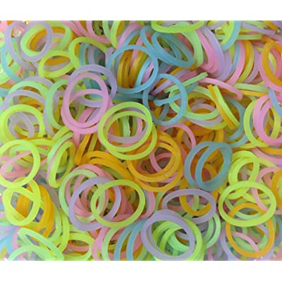 Refill Bands & Clips Mixed Colors (GLOW In The DARK): Toys & Games