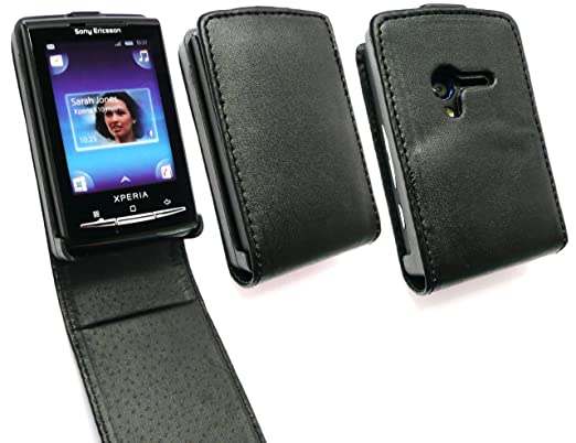 new arrivals 279a5 cdfa5 EMARTBUY SONY ERICSSON XPERIA X10 MINI FLIP CASE COVER WITH BUILT IN PHONE  HOLDER BLACK