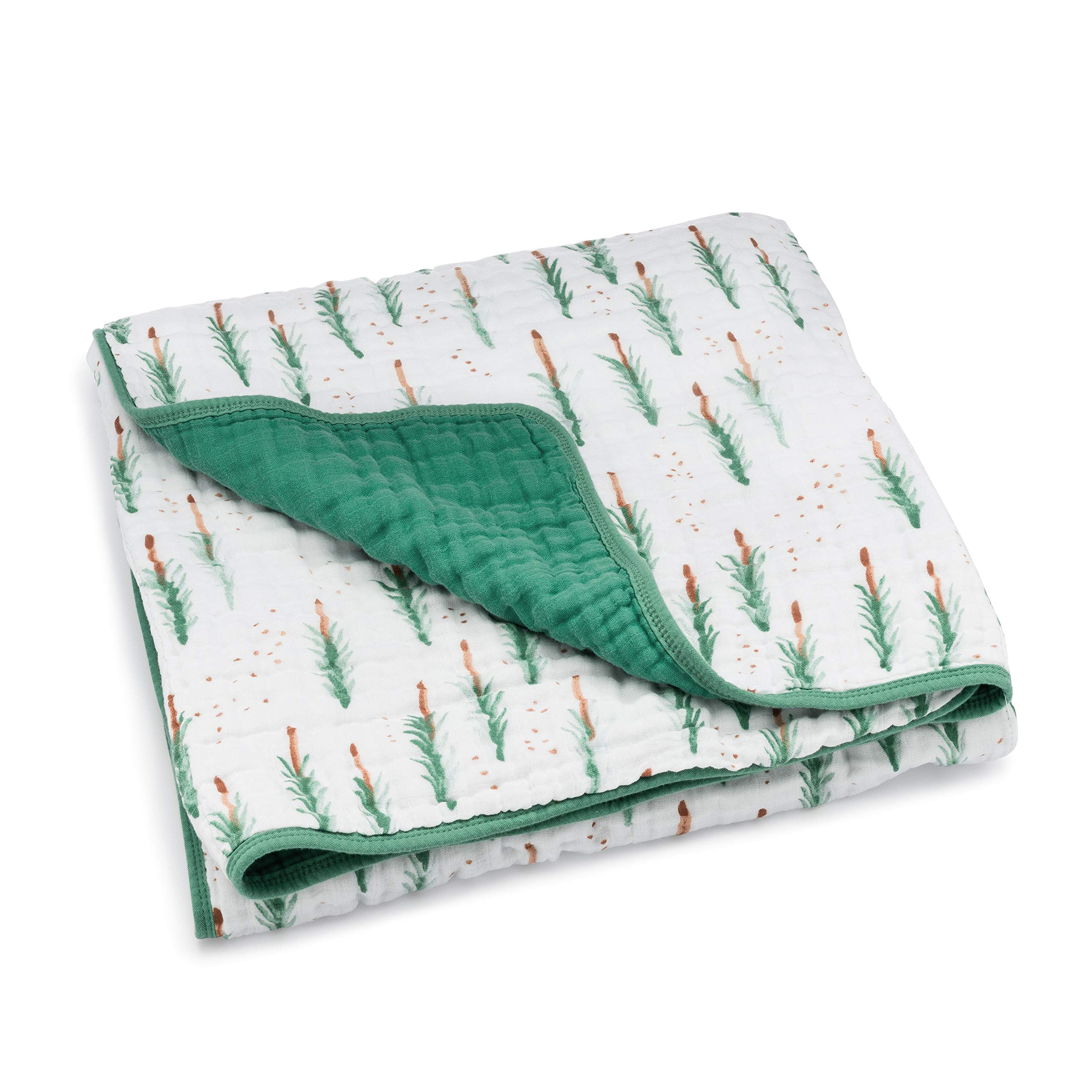 Parker Baby Muslin Blanket - 100% Soft Cotton Baby Quilt and Kids Blanket for Boys - Lodgepole by Parker Baby Co.