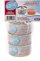 ADOC Naturale Tonnetto con Spigola per Gatti Adulti, Confezione multipack da 3 pezzi