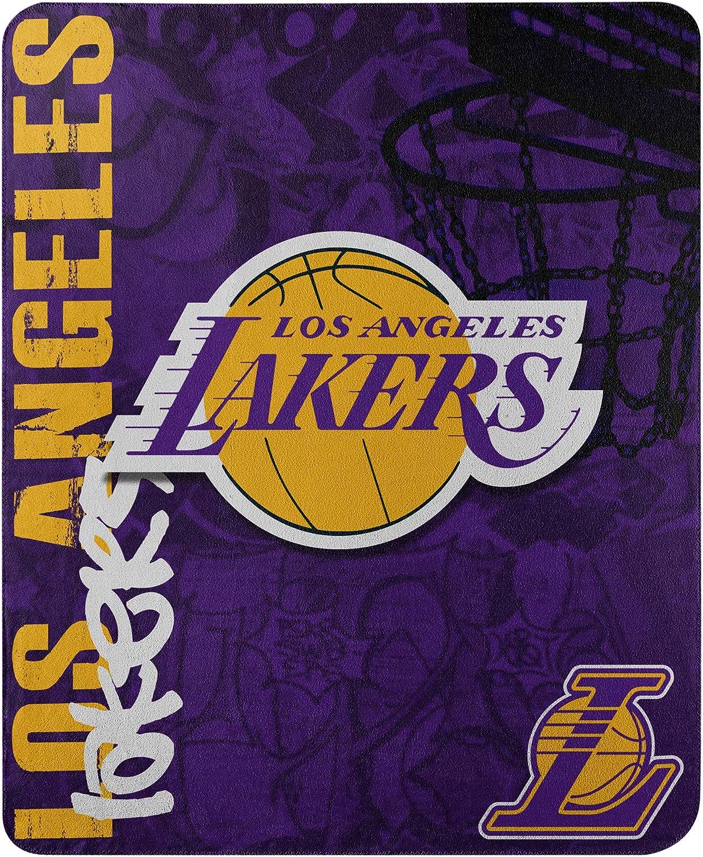 "The Northwest Company NBA Los Angeles Lakers ""Hard Knocks"" Fleece Throw Blanket, 50"" x 60"", Purple : Sports Fan Throw Blankets : Sports & Outdoors"