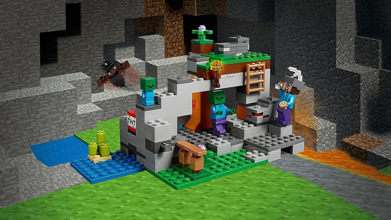 Case Di Montagna Minecraft : Lego minecraft la caverna dello zombie amazon giochi