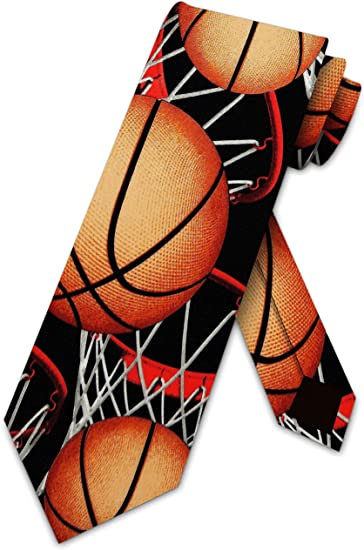 Basketball Ties Mens Sports Necktie by Three Rooker