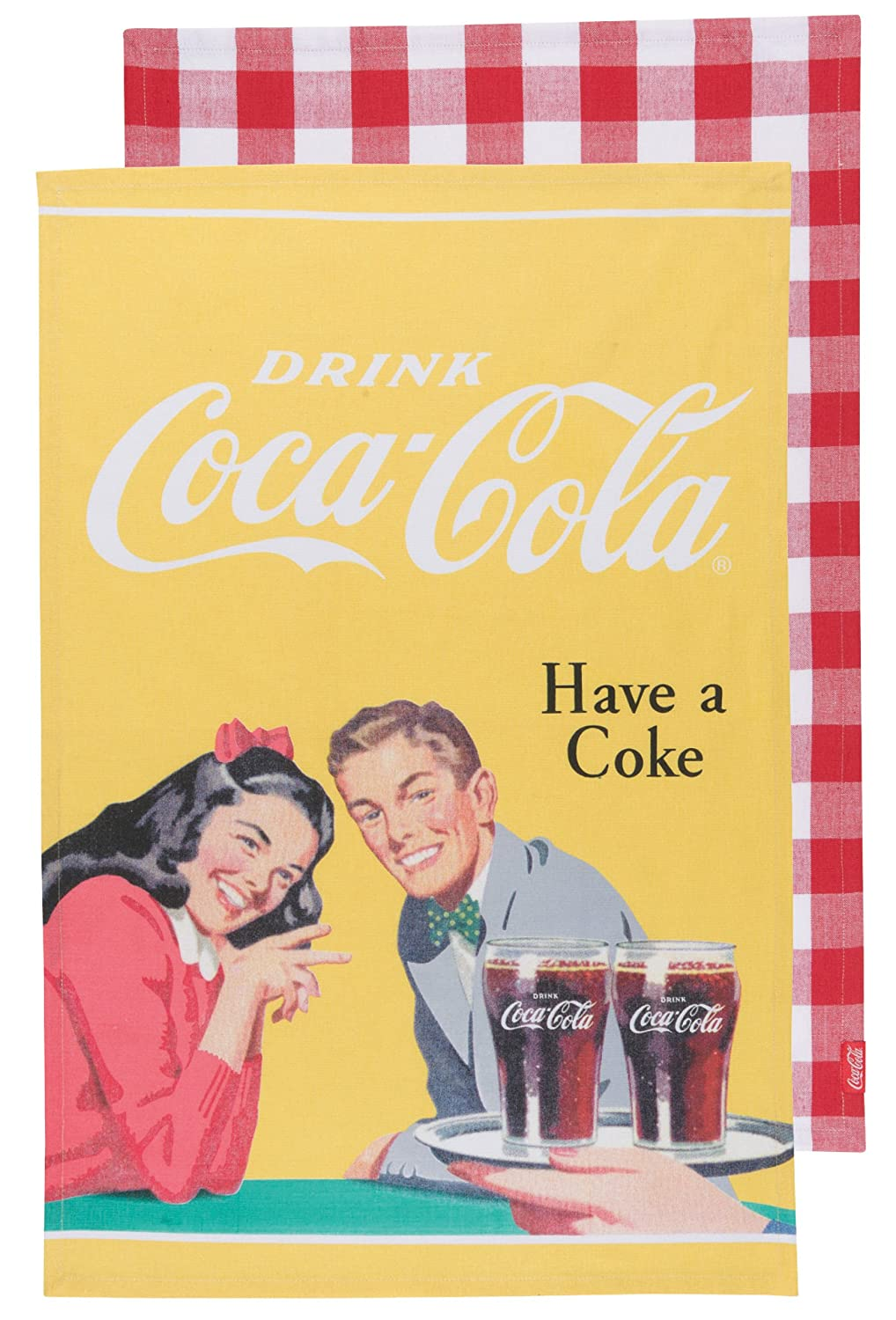 Coca-Cola Pause and Refresh Have a Coke Dishtowel, Set of 2