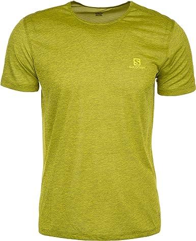 SALOMON Cosmic Crew SS tee Shirt Camiseta, Hombre, Verde Pistacho, XL: Amazon.es: Ropa y accesorios