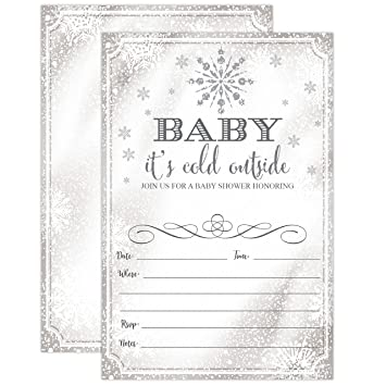 Amazon baby its cold outside invite snowflake baby shower baby its cold outside invite snowflake baby shower invitation christmas winter wonderland baby shower filmwisefo