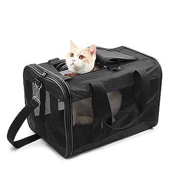 Hitchy Transportin Gato/Transportin Perro Pequeño Mascotas Cómodo Bolso para Transporte en Tren, Coche y Avión. (M): Amazon.es: Productos para mascotas