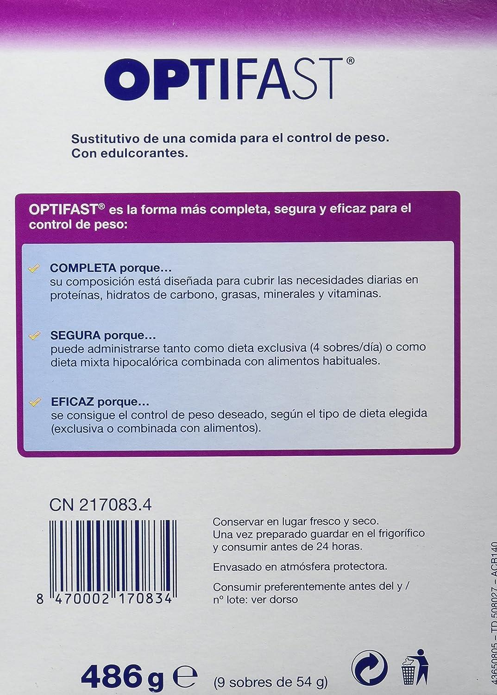 OPTIFAST Batido Café - Sustitutivo de comida, 9 sobres: Amazon.es: Salud y cuidado personal