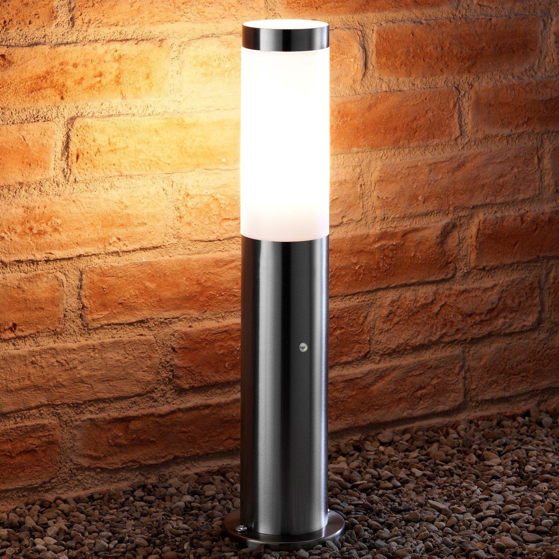 Auraglow Dusk Till Dawn Photocell Daylight Sensor Switch Outdoor Post Light - Stainless Steel (Warm White) [Energy Class A+]