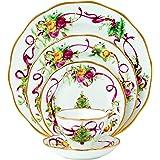 Royal Albert Old Country 玫瑰花圣诞树餐位餐具 5 件套