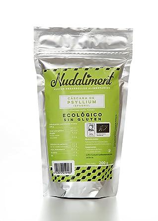 Cáscara de Psyllium ECOLÓGICA Sin Gluten 200 gr: Amazon.es ...