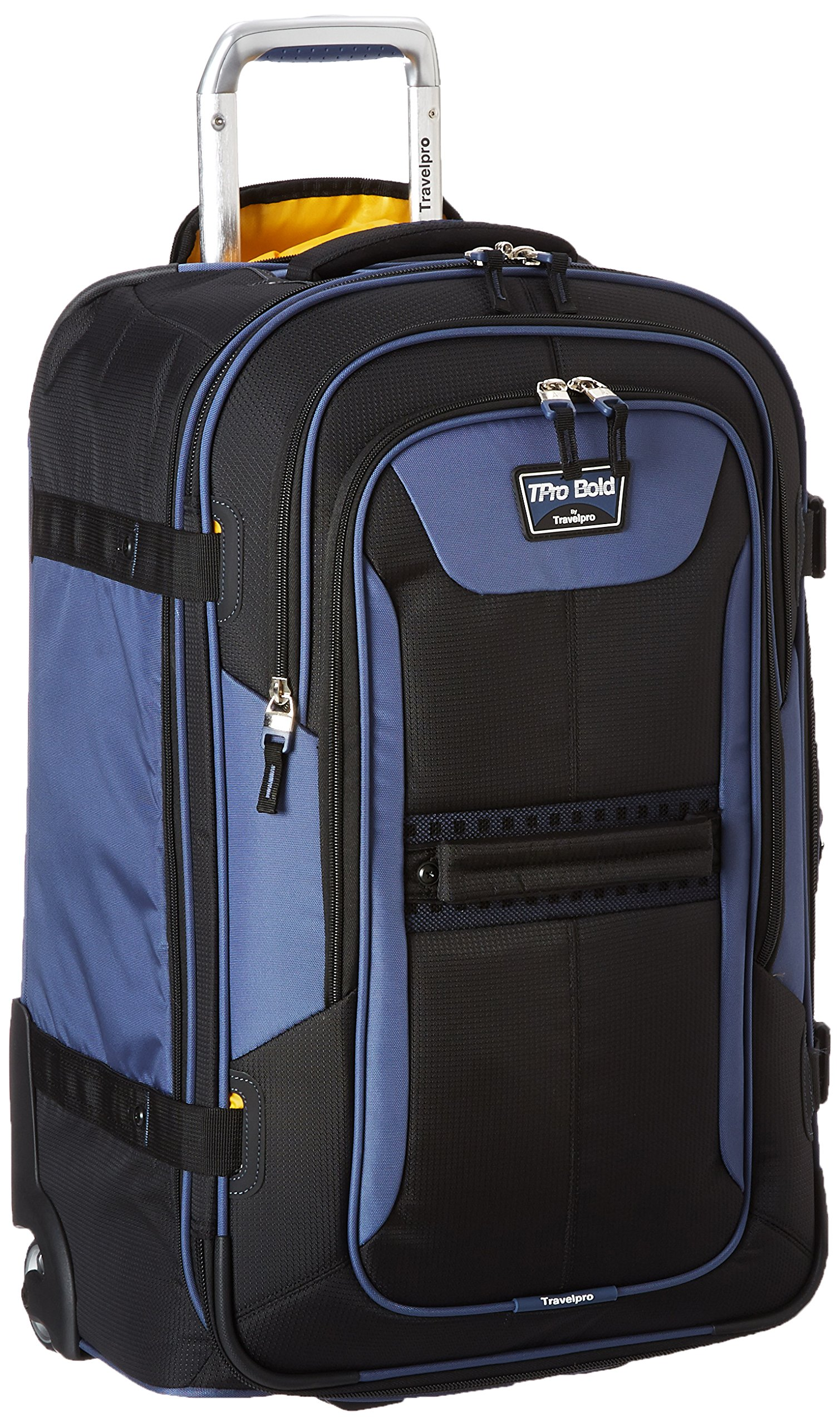 Travelpro Tpro Bold 2.0 25 Inch Expandable Rollaboard, Black/Navy, One Size