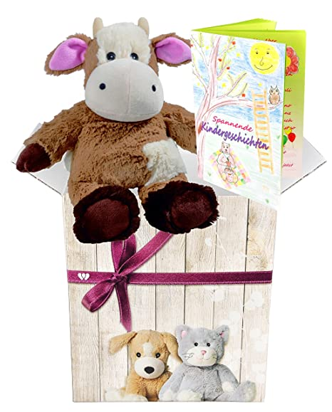 Warmies Set de regalo - peluche en forma de animal minis Farm vaca ...