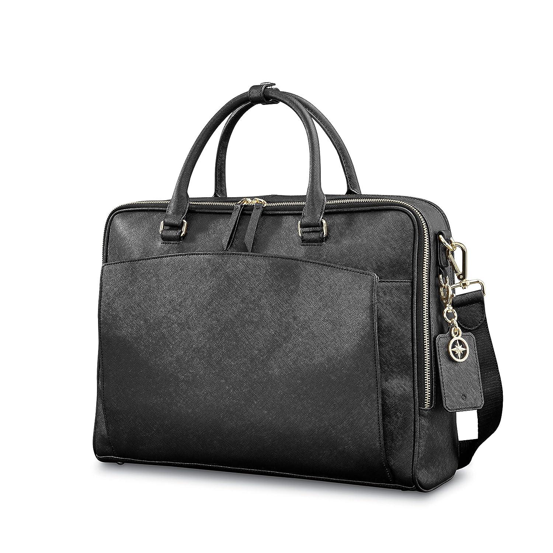 888a3c732 Amazon.com | Samsonite Ladies Leather Zip Brief Black | Briefcases