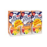 BifrutasTropical Zero refresco de Leche y Zumo de Frutas - Pack de 3 x 33 cl - Total: 990 ml