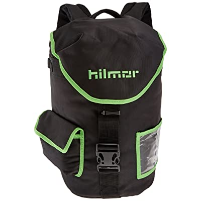 Hilmor HVAC/R Refigerant Tank & Utility Backpack with 8 Carabiner Loops & Storage Pocket, Black & Green, 1891628: Home Improvement