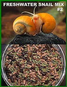 Super Freshwater Snail Mix #2 - Snail,Shrimp,Fish & Crayfish Food (4oz)- ABF2