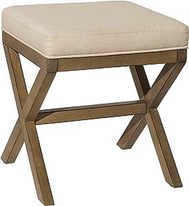 Hillsdale Furniture Somerset Vanity Bench, Driftwood