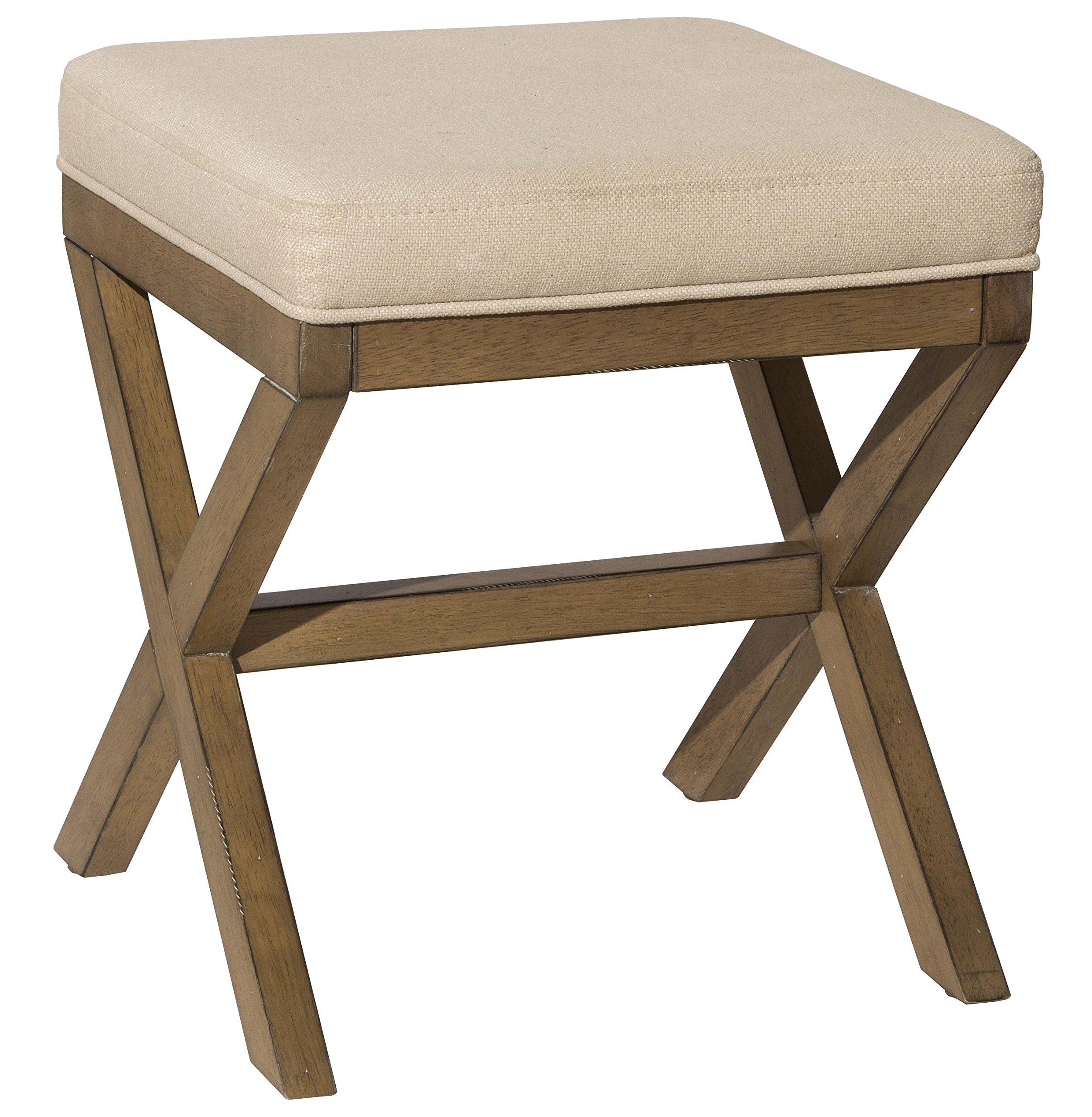 Hillsdale Furniture 51021 Somerset Vanity Bench, Driftwood